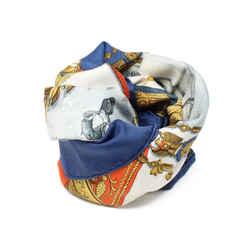 Hermes Blue Napoleon Silk Scarf