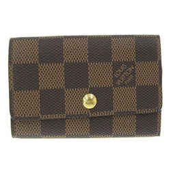Auth Louis Vuitton Louis Vuitton Damier Multikre 6 Key Case Ebene N62630