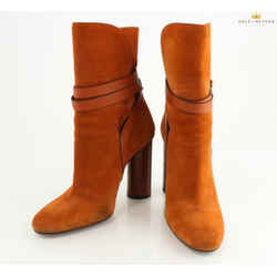 Gucci Brown Suede Belted Ankle Boots