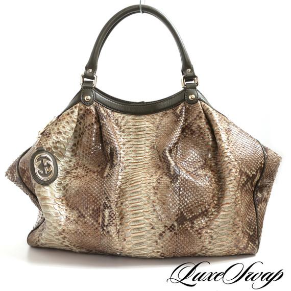 Gucci Ltd Ed Bergdorf Goodman Python Sukey Xl