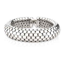John Hardy Dot Flex Cuff in  Sterling Silver