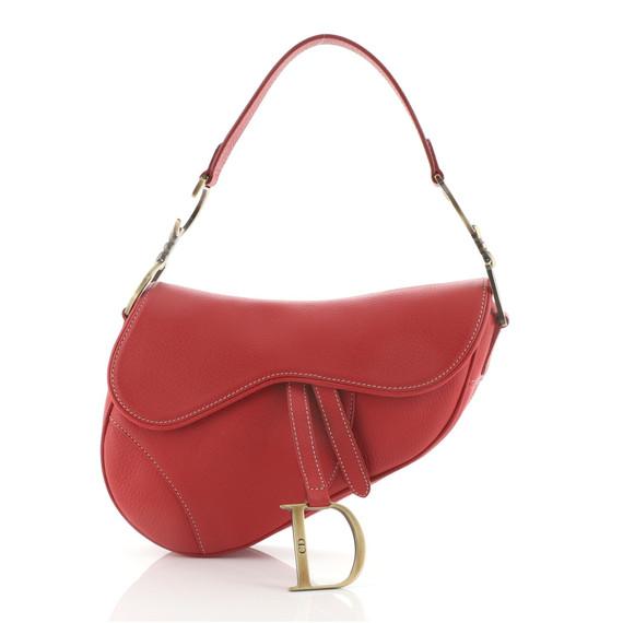 Saddle Handbag Leather Medium