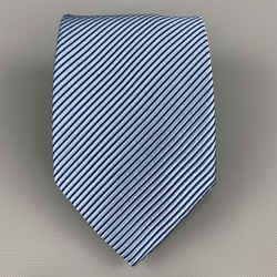 Charvet Blue Shiny Striped Silk Tie