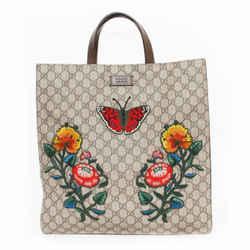 Gucci | Floral Embroidered Soft Tote, Gg Supreme