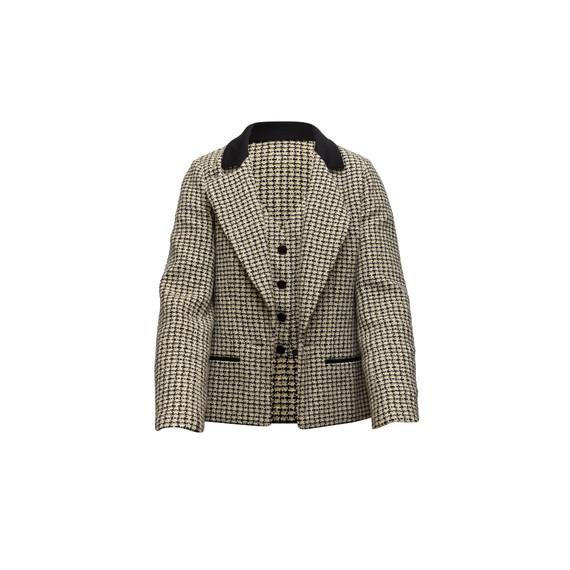 Vintage Sage & Multicolor Chanel Tweed Jacket & Vest Set