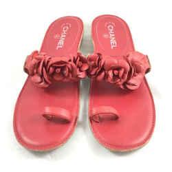 Chanel Floral Sandals. Size 41