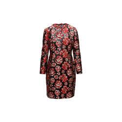 Red & Black Lanvin Floral Shift Dress