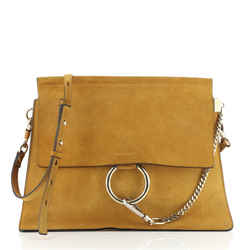 Faye Shoulder Bag Suede Medium
