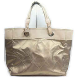 Chanel Gold Biarritz Quilted Tote Bag  862234