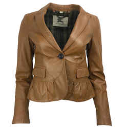 Burberry Light Brown Lambskin Jacket