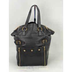 Yves Saint Laurent YSL Downtown Dark Brown Calfskin Leather XL Tote B265