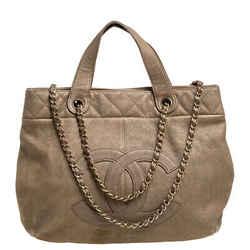 Chanel Beige Leather Trianon Tote