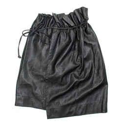Stella Mccartney - Black Vegan Leather Wrap Skirt - It 40 Us 4