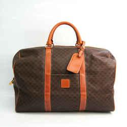 Celine Macadam Unisex PVC,Leather Boston Bag Brown,Dark Brown BF534628