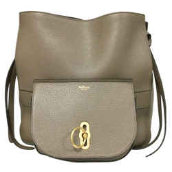 Mulberry Amberley Taupe Leather Hobo Bag