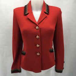 St John Red Knit Jacket 2