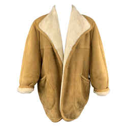 Vintage Tan Shearling Coat