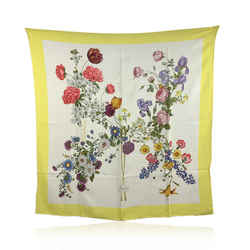 Gucci Vintage Silk Floral Flowers Print Scarf with Defects