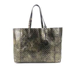 Vintage Authentic Bottega Veneta Gold Intrecciomirage Leather Shoulder Bag Italy