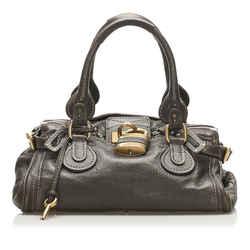Brown Chloe Paddington Leather Handbag Bag