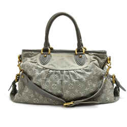 Louis Vuitton Neo Cabby MM Gray Monogram Denim 2way Bag LT396