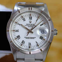 Rolex Date 15200 White Roman Dial Oyster -Mint