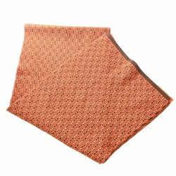 Auth Hermes ???? Women's Cashmere Scarf Brown,orange