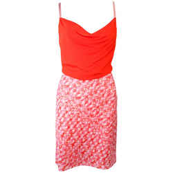 MISSONI Orange and Pink Knit Dress with Wrap Set Size 40