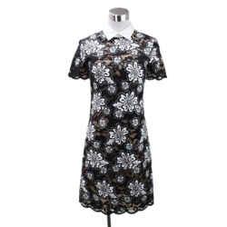 Michael Kors Size 0 Black White Floral Lace Dress