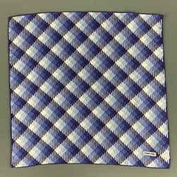 Tom Ford Light Blue & Purple Plaid Silk Pocket Square