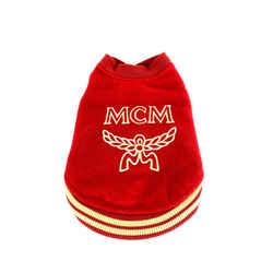 MCM Red Varsity Dog Sweater 5mcmm128