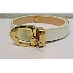 "Louis Vuitton Ivory Vernis Leather Monogram 3/4"" Wide Belt Ri1016 - 80/32 - New"