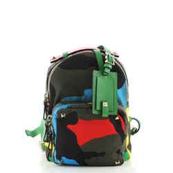 Rockstud Backpack Camo Nylon Mini