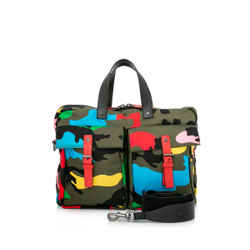 Pre-Owned Valentino Garavani Rockstud Camouflage Messenger Bag