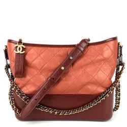 Gabrielle Aged Calf Leather Hobo Bag