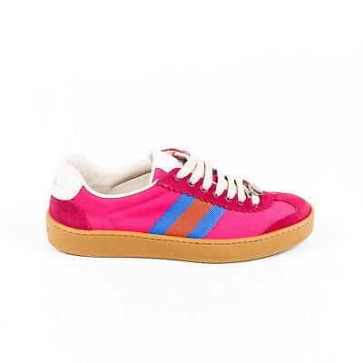 Gucci Sneakers G74 Pink Canvas Suede