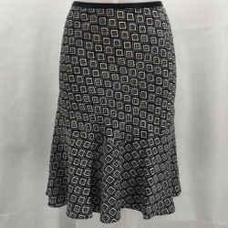 Diane Von Furstenberg Black Printed Skirt 4