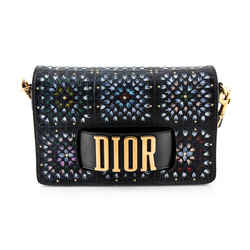 Dior Multi Wide Strap Studded Floral Flap Bag