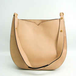 Valextra Women's Leather Shoulder Bag Beige Pink BF517209