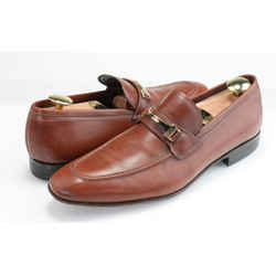 Salvatore Ferragamo Pebbled Leather Gancini Loafers