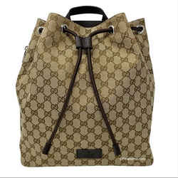 NEW Gucci Canvas GG Guccissima Drawstring Backpack Rucksack