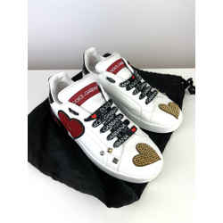 Dolce & Gabbana Embellished Sneakers Size 38.5