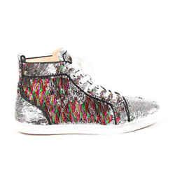 Christian Louboutin Sneakers Bip Bip High-Top Multicolor Sequin SZ 40