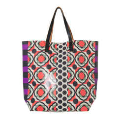 Marni Leather-trimmed Printed Tote