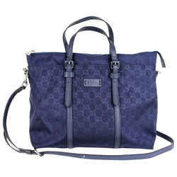 New Gucci Men's Crossbody Blue Gg Nylon Tote Bag