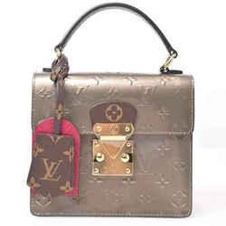 Auth Louis Vuitton Louis Vuitton Verni Spring Street Pm Silver Leather