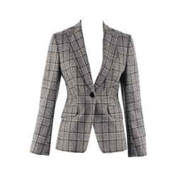 Plaid Wool Blazer Jacket