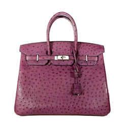 Hermes Violine Ostrich 35 Cm Birkin Bag