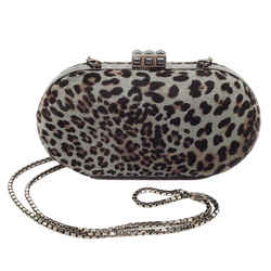 Judith Leiber Hair On Leopard Print Shoulder Bag