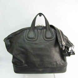 Givenchy Nightingale Large Women's Leather Handbag,Shoulder Bag Black BF526972